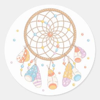 Bébé tribal de Dreamcatcher Boho Sticker Rond