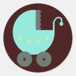 Bébé unisexe de bébé bienvenu adhésifs ronds