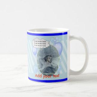 Bébé victorien, bleu de l'ombre de la maman mug blanc