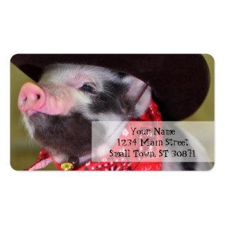 bébés d'animaux de ferme de porcelet de bébé de carte de visite standard