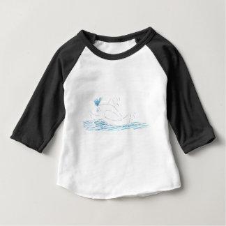 Bébés de baleine d'imbécile 3/4 T-shirt de raglan