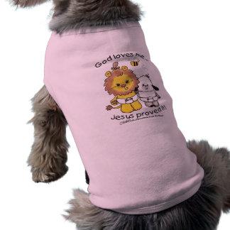 Bébés de lion et d'agneau t-shirt pour chien
