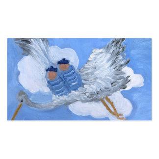 Bébés de vol et carte de visite de cigogne