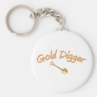 Bêcheur d'or porte-clé rond