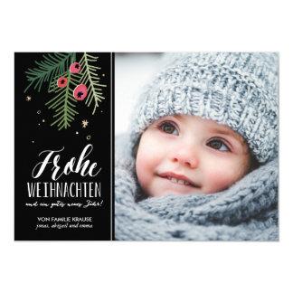 Beeren par coeur | Frohe Weihnachten Carton D'invitation 12,7 Cm X 17,78 Cm