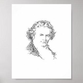 Beethoven - composé de notes minuscules de musique posters