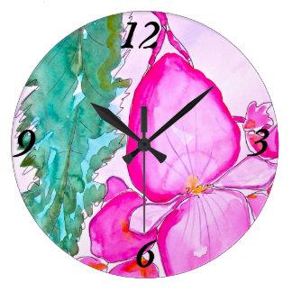 Bégonia d'aile d'ange grande horloge ronde