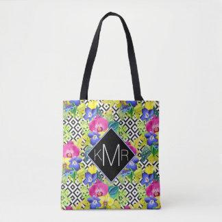 Bégonia d'orchidée et monogramme des palmettes | sac