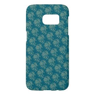 Beige floral de Mini-copie de style ethnique sur Coque Samsung Galaxy S7