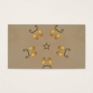 Beige rustique d'or jaune d'oeufs de pâques de cartes de visite