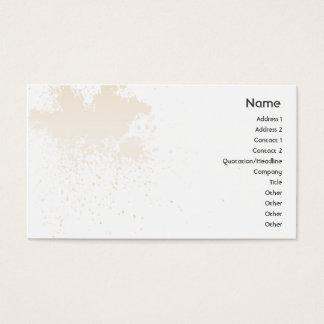 Beige sur l'éclaboussure blanche - affaires cartes de visite