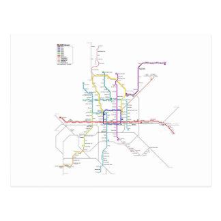 Beijing métro carte postale