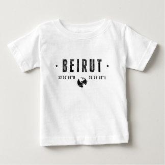 Beirut geographic coordinates t-shirt pour bébé