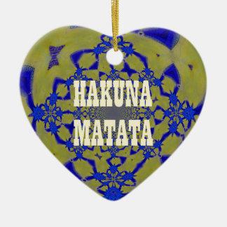 Bel Africain féminin extraordinaire A de Hakuna Ornement Cœur En Céramique