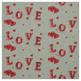 Bel amour rouge élégant avec le tissu de coeurs