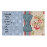 Bel arc vintage girly élégant mignon de fleurs modèle de carte de visite