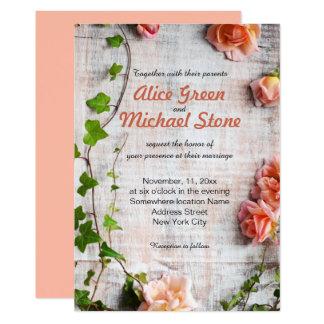 Bel arrangement floral rustique carton d'invitation  12,7 cm x 17,78 cm
