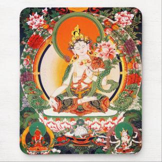 Bel art bouddhiste tibétain tapis de souris