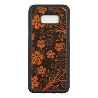 Bel art orange d'impression de remous de fleurs coque samsung galaxy s8+ par carved