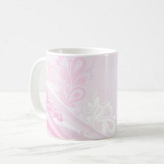 Bel art rose de remous de coeurs d'amour mug
