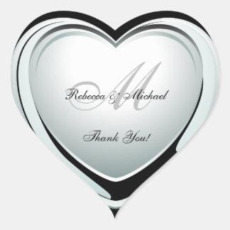 Bel autocollant de Merci de mariage de coeur de