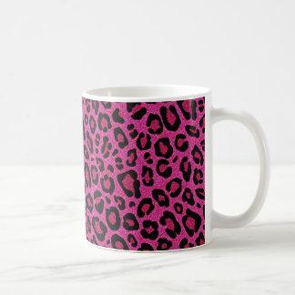 Bel éclat de scintillement de peau de léopard de mug