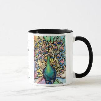 Bel être beaux-arts de tasse de paon de Tiffany