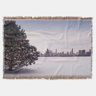 bel hiver Chicago - couverture de jet