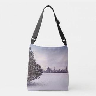 bel hiver Chicago - sac de croix-corps