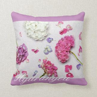 Bel hortensia coussin décoratif