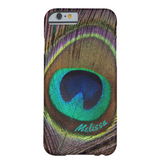 Bel oeil de plume de paon, votre nom coque iPhone 6 barely there
