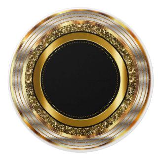 Bel or et noir bouton de porte en céramique