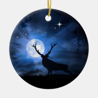 Bel ornement de décoration de Noël d'élans