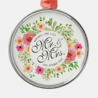 Bel ornement de M. et de Mme Floral Wedding |