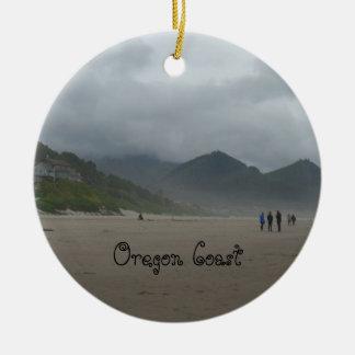 Bel ornement de plage de canon de côte de l'Orégon