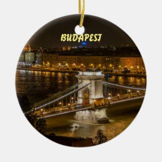 Bel ornement pittoresque de Noël de Budapest
