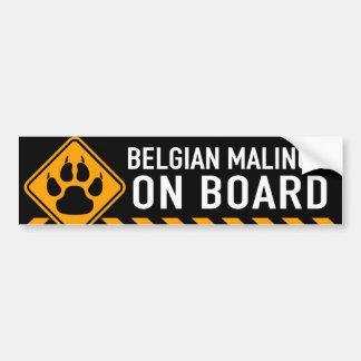Belge Malinois à bord Autocollant Pour Voiture