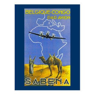 ~ Belgique Congo de Sabena Carte Postale