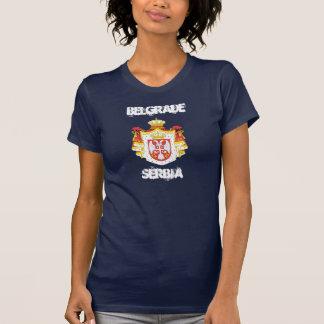Belgrade, Serbie avec le manteau des bras T-shirt