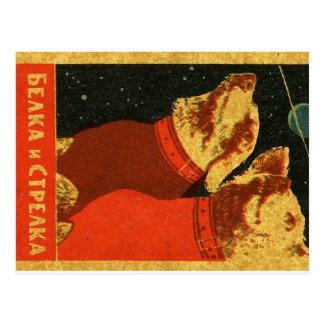 Belka et Strelka Carte Postale