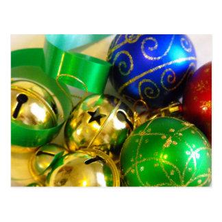 Bell, boules et carte postale de rubans