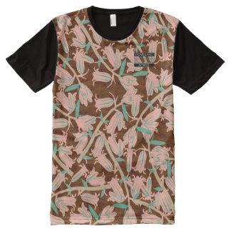 Bell rose fleurit chemise moderne de concepteur de t-shirt tout imprimé