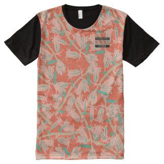 Bell rose fleurit chemise moderne de concepteur t-shirt tout imprimé