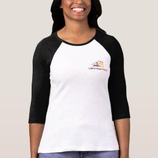 Bella de femmes blanches 3/4 T-shirt de raglan de
