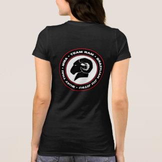 Bella des dames+T-shirt noir de RAM de toile T-shirt