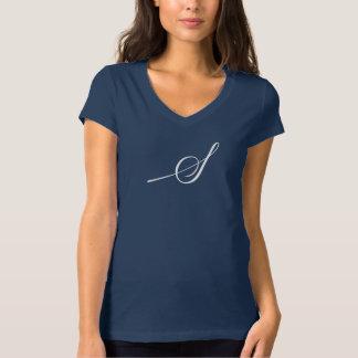 Bella des femmes de Saybrook+V-Cou du Jersey de T-shirt