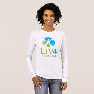 Bella des femmes+Long T-shirt de douille de toile