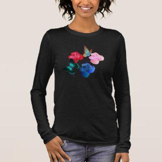Bella des femmes plus la chemise de V-Cou de T-shirt À Manches Longues