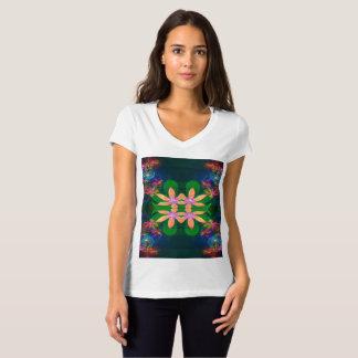 Bella des femmes+T-shirt de V-Cou du Jersey de T-shirt