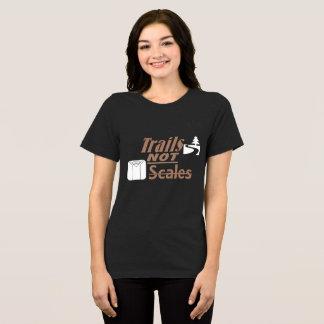 """Bella des femmes """"traîne PAS échelles""""+Toile F T-shirt"""